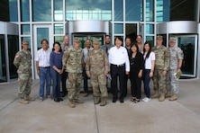 Honolulu District hosted site visits July 12 for the U.S. Army Corps of Engineers Commander Lt. Gen. Todd T. Semonite to our Bldg. 112 renovation and USARPAC Mission Command Facility (MCF) (shown above) at Fort Shafter.  Semonite was briefed on the status of the MCF, which the Corps is building for USARPAC, which will consolidate USARPAC Headquarters into one facility to support Mission Command of Army or joint forces across the Asia-Pacific Area of Operations. The District finished the first contract for the MCF with the successful completion of a central utilities plant, switch building, communications hub, and arrival building. Since the start of the New Year, the District has been moving forward with the second contract that includes construction of administrative and special use spaces, with supporting mechanical, electrical, and telecommunications systems. Semonite was in Hawaii to preside over the Pacific Ocean Division Change of Command ceremony.