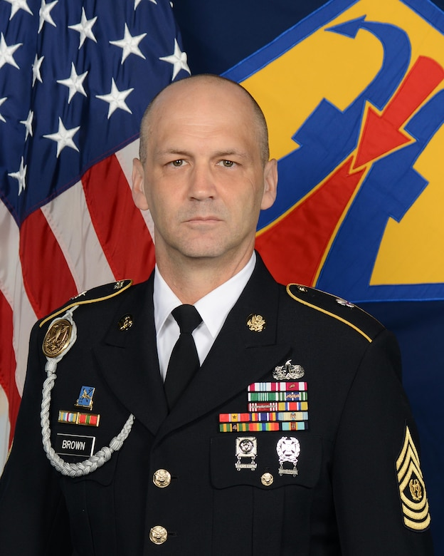 Command Sgt. Maj. Raymond Brown