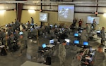 Air and Army National Guardsmen take part in exercise Cyber Shield 2016 at Camp Atterbury, Ind., April 20, 2016. Cyber Shield 2016 is an Army National Guard cyber training exercise designed to develop and train cyber-capable forces including members of the National Guard, Army Reserve, Marine Corps and other federal agencies. Army photo by Sgt. Stephanie A. Hargett