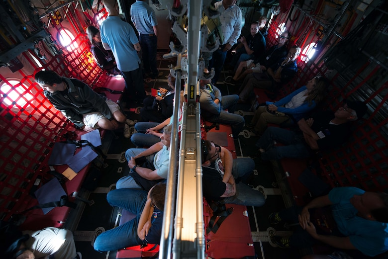 Civilian Employers of Reservists fly aboard a C-130 Hecules during Employers Day Aug. 6.