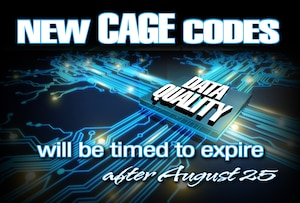 Some CAGE codes will expire after August 25, 2016.