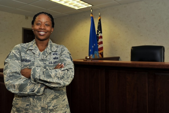 U.S. Air Force Master Sgt. Narda Spurgeon, 19th Airlift Wing Judge Advocate Legal Office superintendent, helped her team to achieve recognigtion as the Air Mobility Command Legal Office of the Year. She also works beyond her normal duty hours and takes on additional duties to compensate their extreme manning shortage and enables her unit to continue producing professional legal services. (U.S. Air Force photo by Airman Kevin Sommer Giron)