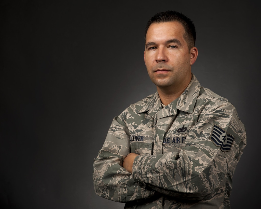 Tech. Sgt. Larry Tolliver Jr., 90th Missile Security Forces Squadron assistant first sergeant, poses on F.E. Warren Air Force Base, Wyo., August 11, 2016. Tolliver works to help those around him on a daily basis. (U.S. Air Force photo by Senior Airman Malcolm Mayfield)