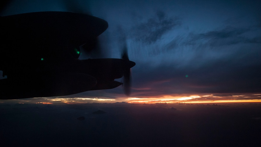 A 1st Special Operations Squadron MC-130H Combat Talon II flies during a training sortie Aug. 9, 2016, over the Pacific Ocean. 18th Logistics Readiness Squadron forward area refueling members participated with the 1st SOS to maintain mission readiness.  FARP teams extend Kadena Air Base's ground refueling operations capacity involving helicopter units from sister services.  (U.S. Air Force photo by Senior Airman Peter Reft)