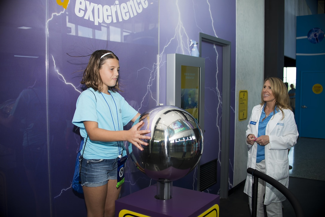 Sophia Patterson, daughter of Lt. Col. John Patterson, 107th Airlift Wing, visited the Hydro Electric Plant at Niagara Falls as part of kid's camp, a week long program for children of Air Force Guard, Reserve and Active Duty members. (U.S. air Force photo by Tech. Sgt. Stephanie Sawyer)