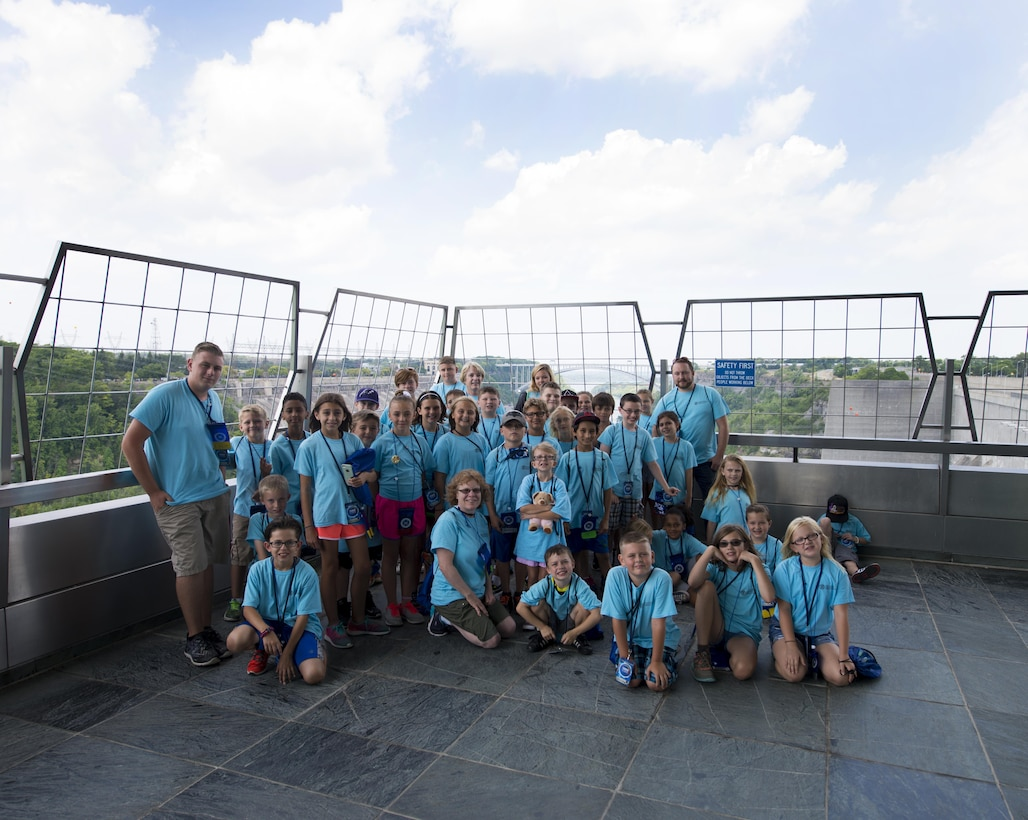 Children of Air Force Guard, Reserve and Active duty members participate in kid's camp, held at Niagara Falls Air Reserve Station. As part of the camp, the children visited the Hydro Electric plant in Niagara Falls where they learned about how energy is produced and harnessed. (U.S. Air Force photo by Tech. Sgt. Stephanie Sawyer)