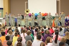 1st Infantry Division Band outreach concert to Lincoln Elementary School on March 21, 2016 in Junction City, KS.