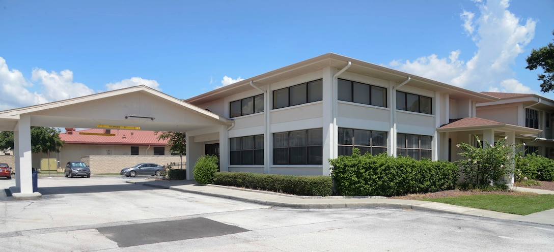 Building 411 will be the new location for the Pass and ID card office at MacDill Air Force, Fla. The move is scheduled to take place Aug. 22-26, 2016. (U.S. Air Force photo by Senior Airman Vernon L. Fowler Jr.)