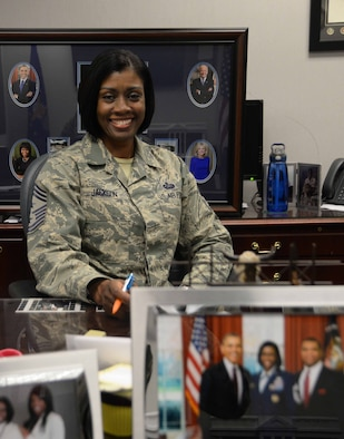 Chief Master Sgt. Michelle Jackson, National Air and Space Intelligence command chief, is the senior enlisted leader of more than 3,100 personnel. Jackson advises the commander on all matters related to morale, quality of life, discipline, assignments, training, readiness, professional development, and effective utilization of all personnel.