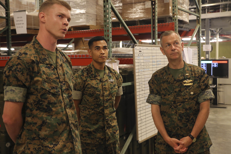 ii marine expeditionary force > photos hospitalman matthew moccardini left a warehouse clerk 2nd medical logistics company 2nd