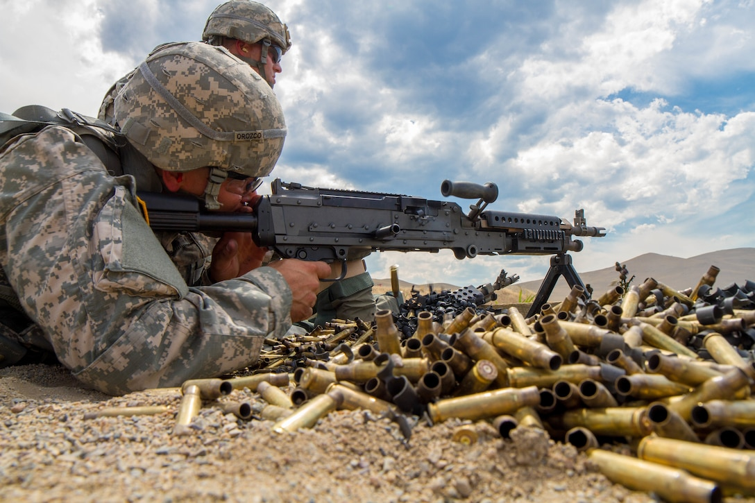 Spc. Michael S. Orozco, 2016 U.S. Army Reserve Best Warrior Competition (BWC) winner in the Soldier category, fires a M-240 machine gun at Fort Harrison, Mont., August 8, 2016. The Army Reserve BWC winners and runners up from the noncommissioned officer (NCO) and Soldier categories are going through rigorous training, leading up to their participation in the Department of the Army Best Warrior Competition this fall at Fort A.P., Va.