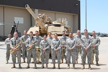 1st Infantry Division Band ready to perform at Vietnam Veterans Welcome Home Ceremony June 8, 2016 during Victory Week at Fort Riley.