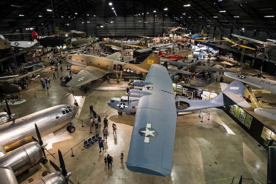 A general view of the WWII Gallery at the National Museum of the United States Air Force. (U.S. Air Force photo by Ken LaRock)