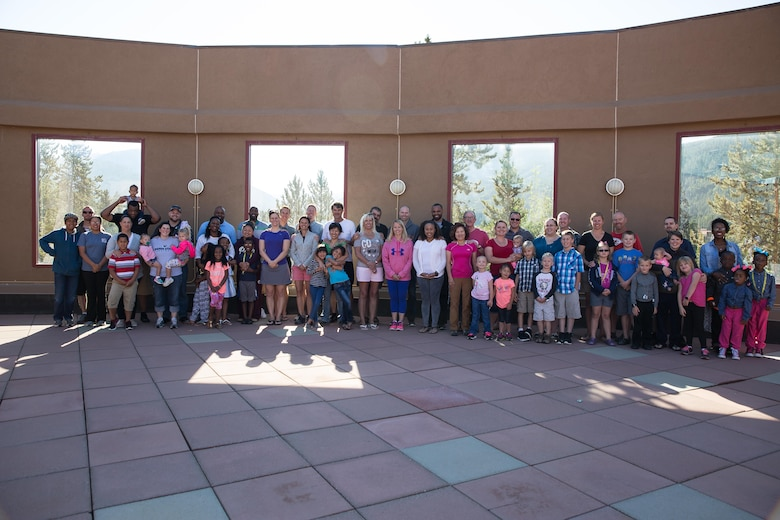 Attendees gather for a group photo to conclude a family retreat at Keystone, Colorado, Sunday, Aug. 14, 2016. The 50th Space Wing Chapel Office sponsored the event to encourage Schriever members to take time to focus on their families. (Courtesy photo)