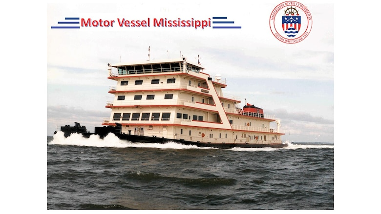 The Motor Vessel MISSISSIPPI, like her predecessors, serves as an inspection vessel for the MRC and working towboat during the revetment season.  Each spring, during traditional high water, and late summer, during traditional lower water, the Commission conducts a series of public meetings aboard the vessel at various river communities.  These gatherings enable local interests and the public to bring their views and concerns before the MRC and engage in dialogues with its members.