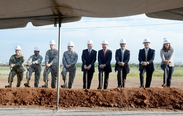 KC-46A Sustainment Campus groundbreaking ceremony. (U.S. Air Force photo / Kelly White)