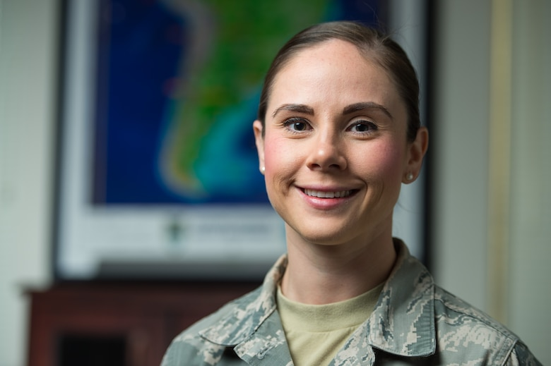 Senior Airman Heather Flitcroft, 349th Aerospace Medicine Squadron, poses for a photo at Travis Air Force Base, Calif., Aug. 15, 2016. (U.S. Air Force photo by Master Sgt. Joseph Swafford)