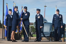U.S. Air Force Gen. Lori Robinson, North American Aerospace Defense Command and U.S. Northern Command commander gives command of Alaskan NORAD Region and Alaskan Command to U.S. Air Force Lt. Gen. Kenneth Wilsbach during a change of command ceremony Aug. 16 at Joint Base Elmendorf-Richardson, Alaska.  Wilsbach also assumed command of 11th Air Force from Gen. Terrence O'Shaughnessy, Pacific Air Forces commander. Outgoing commander Lt. Gen. Russell Handy retired after more than 30 years of service and relinquished command to Wilsbach.