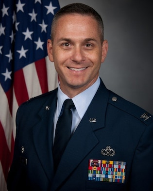 Official photo of AFCEC Deputy Director Col. Charles D. Kuhl