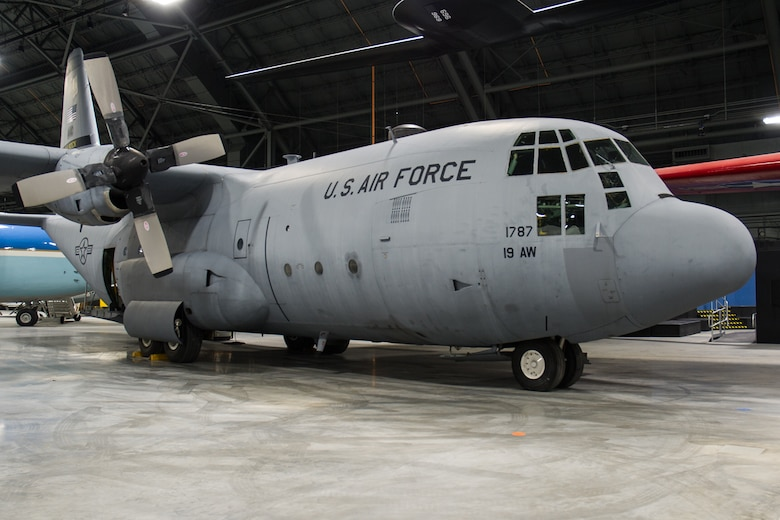 DAYTON, Ohio -- The Lockheed C-130E SPARE 617 on display in the Global Reach Gallery at the National Museum of the U.S. Air Force. (U.S. Air Force photo by Ken LaRock)