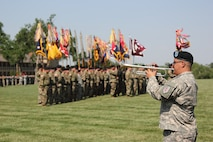 1st Infantry Division Band practice at Division Review rehearsal June 9, 2016 for Victory Week.