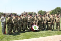 1st Infantry Division Band group photo at Division Review rehearsal June 9, 2016 for Victory Week.