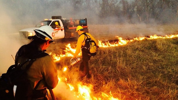 Controlled burns at the Sunflower Local Training Area in Kansas are an example of environmental services provided by the Louisville District to the 88th Regional Support Command.