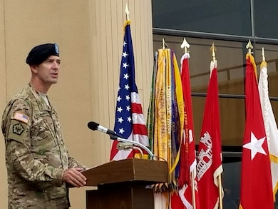Colonel D. Peter Helmlinger assumed command of the U.S. Army Corps of Engineers South Pacific Division, August 18, 2016, during a formal change of command ceremony at the Bay Model Visitor Center in Sausalito, California.