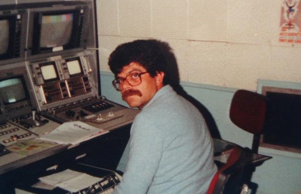 Nikos Markakis gets ready for a newscast at the Armed Forces Radio and Television Service station on Iraklion Air Station in Crete in 1985. Markakis worked for AFN for more than 20 years before he retired in 1993; the station closed the following year.