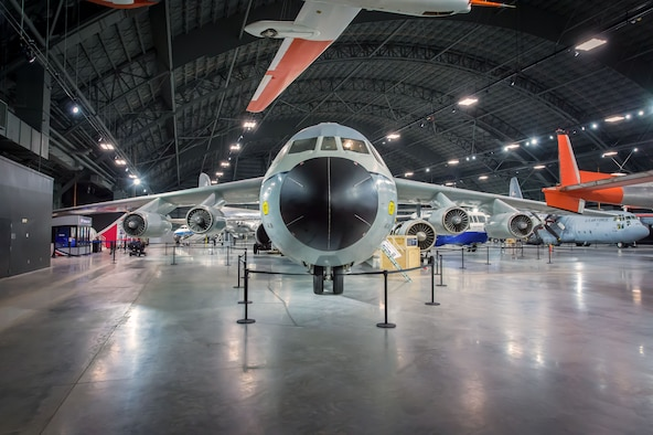 "Lockheed C-141C Starlifter ""Hanoi Taxi"" in the Global Reach Gallery at the National Museum of the United States Air Force. (U.S. Air Force photo by Jim Copes)"