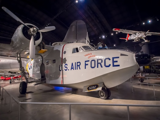 Dayton, Ohio -- The Grumman HU-16B Albatross in the Cold War Gallery at the National Museum of the United States Air Force. (U.S. Air Force photo by Jim Copes)