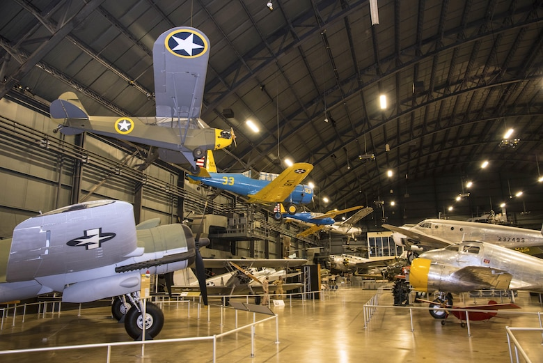 A general view of the WWII Gallery at the National Museum of the U.S. Air Force on Aug. 19, 2016. (U.S. Air Force photo by Ken LaRock)