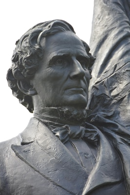 """Confederate president Jefferson Davis, longtime resident of Warren County, referred to Vicksburg as the """"nail head that held the South's two halves together."""""""