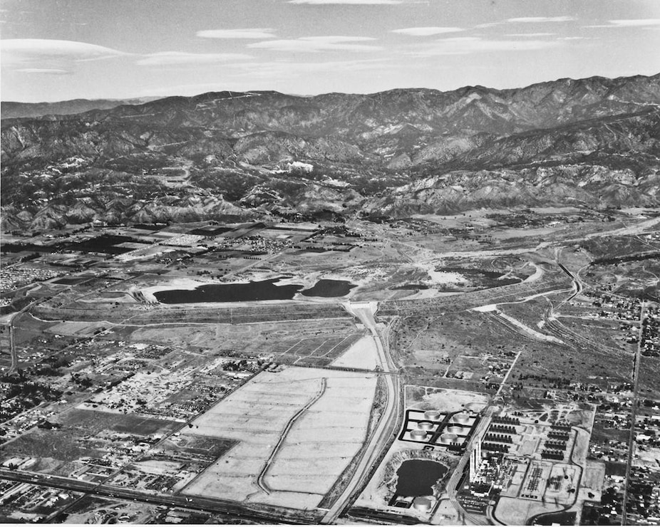 Hansen Dam Aerial 1959