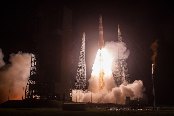 A United Launch Alliance (ULA) Delta IV rocket carrying AFSPC-6 mission lifts off from Space Launch Complex-37, Cape Canaveral Air Force Station, Fla., at 12:52 a.m. EDT. The 45th Space Wing supported the successful launch of the third and fourth Orbital ATK-built Geosynchronous Space Situational Awareness Program satellites for the Air Force with weather forecasts, launch and range operations, security, safety and public affairs. The wing also provided its vast network of radar, telemetry and communications instrumentation to facilitate a safe launch on the Eastern Range, (Courtesy photo/United Launch Alliance)