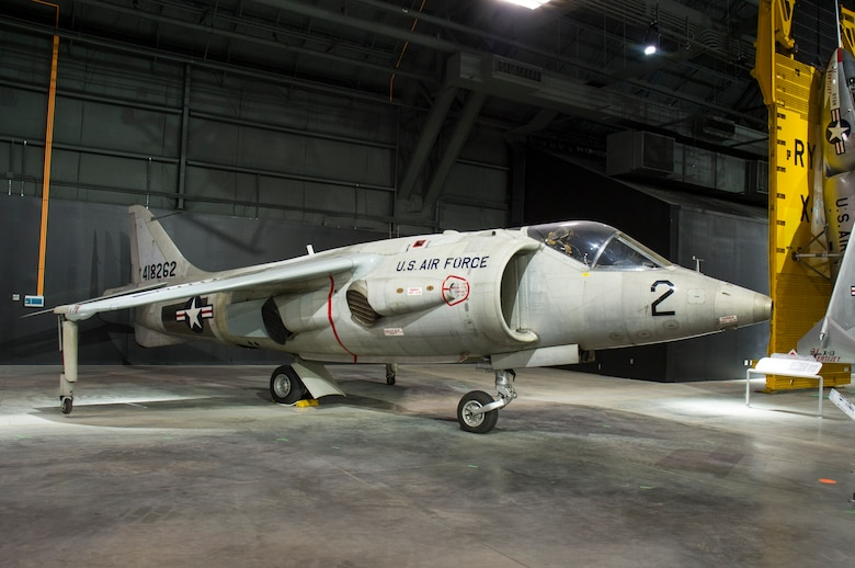 DAYTON, Ohio -- Hawker Siddeley XV-6A Kestrel in the Research & Development Gallery at the National Museum of the U.S. Air Force. (U.S. Air Force photo by Ken LaRock)