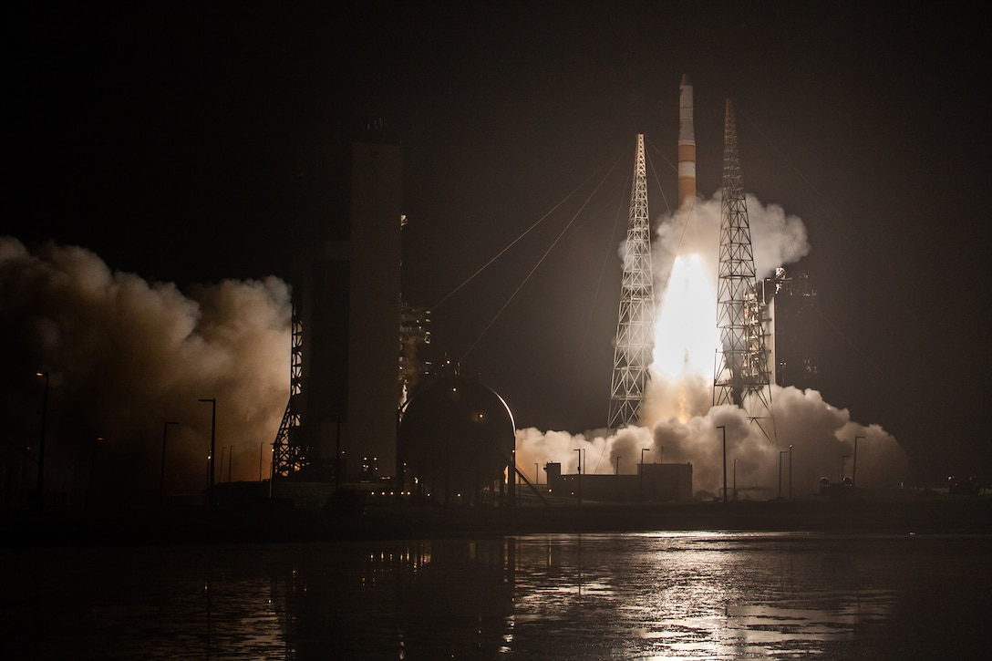 A Delta IV rocket carrying AFSPC-6 mission lifts off from Space Launch Complex-37 at 12:52 a.m. EDT, Aug. 19.(Photo by United Launch Alliance)