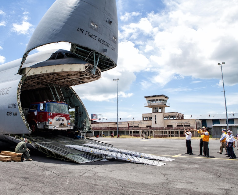 On Aug. 12, members of the Air Force Reserve, Air National Guard, and active-duty components came together to transport 47.8 tons of cargo to South America for a humanitarian mission.