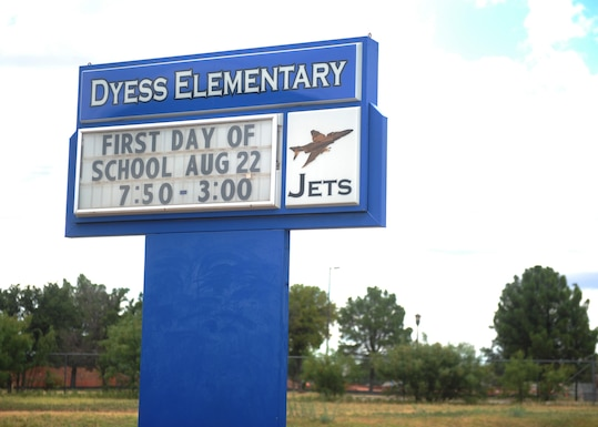 The Dyess Elementary School, located just outside Dyess Air Force Base, is one of the closest schools available for the children of service members living in base housing. The school will open its doors for the first day of classes Aug. 22, 2016. (U.S. Air Force Photo by Airman 1st Class Rebecca Van Syoc)