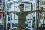 Marine Corps Cpl. Tori C. Best, a combat engineer with the 13th Marine Expeditionary Unit, is the current female pullup record holder aboard the USS Boxer, Aug. 6, 2016. Best is one of the few female Marines to graduate from an Infantry Training Battalion. The 13th MEU, embarked aboard the Boxer Amphibious Ready Group, is operating in the 7th Fleet area of operations in support of security and stability in the Indo-Asia-Pacific region. Marine Corps photo by Cpl. Alvin Pujols