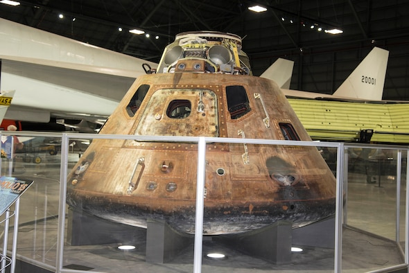 DAYTON, Ohio -- Apollo 15 Command Module in the Space Gallery at the National Museum of the United States Air Force. (U.S. Air Force photo by Ken LaRock)