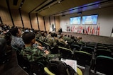 Participants of Exercise Pacific Endeavor 2016 listen to opening remarks at the opening ceremony at Gallipoli Barracks (Enoggera), Aug. 22, 2016. Sponsored by U.S. Pacific Command and hosted by the Australian Defence Force, Pacific Endeavor 2016 is a multinational workshop designed to enhance communication interoperability and expedite Humanitarian Assistance and Disaster Relief response in the Indo-Asia Pacific region. The workshop involved 250 participants from 22 allied and partner nations.