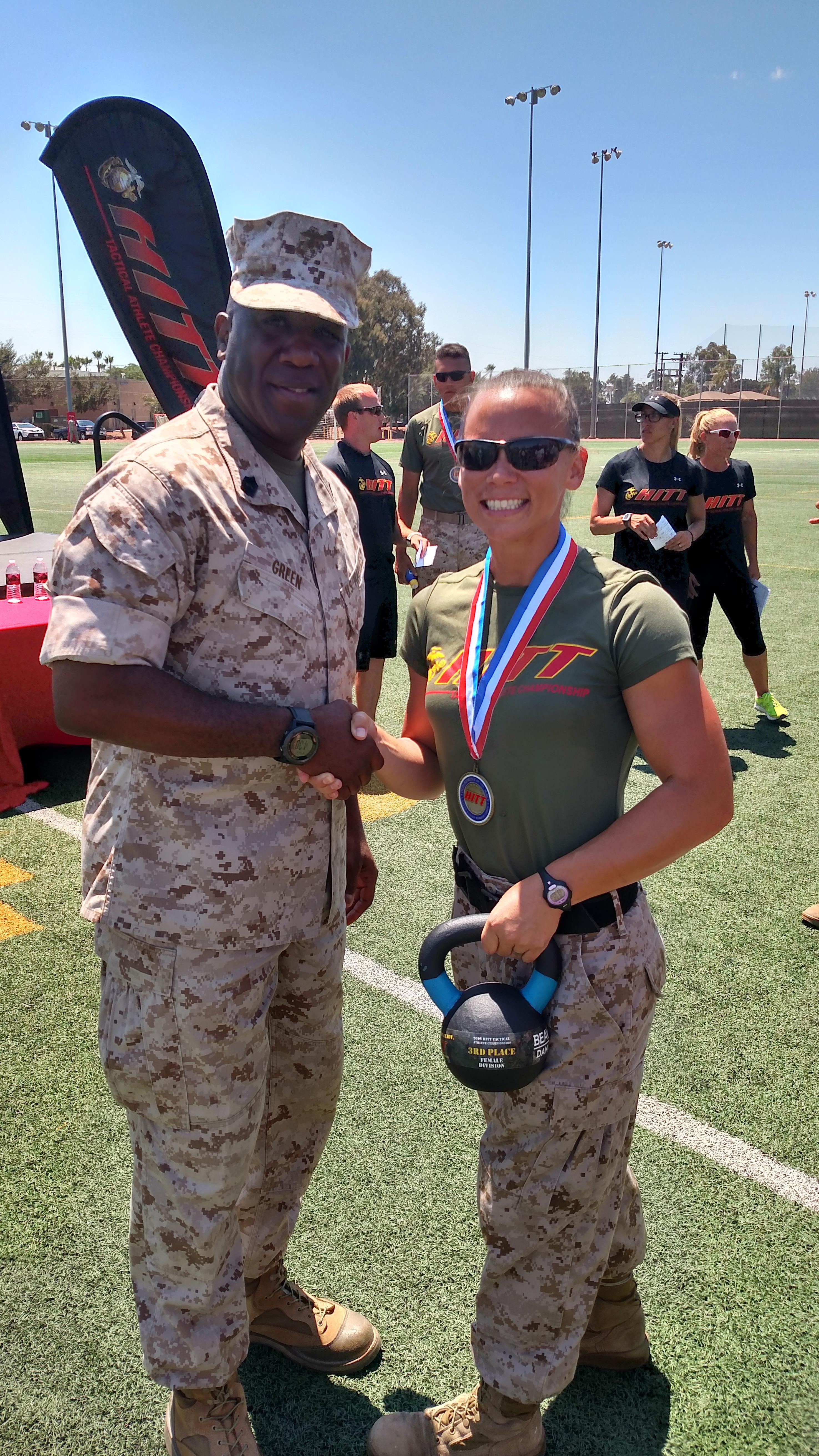 Marine Staff Sergeant finishes third at HITT competition ...