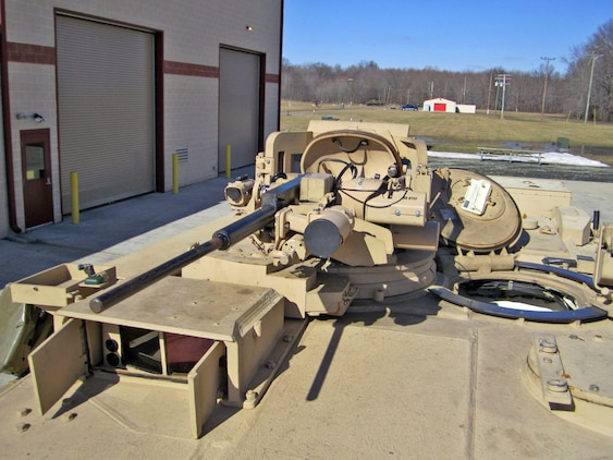The Abrams Integrated Display and Targeting System upgrades the thermal and day sight on the stabilized commander's weapon station through a state-of-the-art, high definition camera and permanently-mounted color display. The AIDATS program is managed by Armor and Fire Support Systems at Marine Corps Systems Command. (U.S. Marine Corps Courtesy Photo)