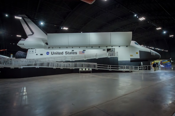 DAYTON, Ohio -- The Space Shuttle Exhibit featuring NASA's first Crew Compartment Trainer (CCT) in the Space Gallery at the National Museum of the U.S. Air Force. (U.S. Air Force photo by Jim Copes)