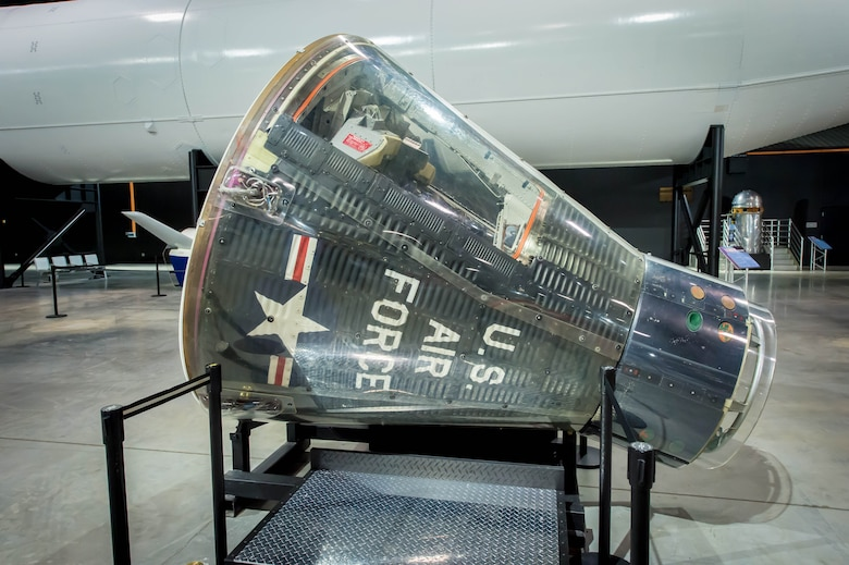 DAYTON, Ohio -- Gemini spacecraft in the Space Gallery at the National Museum of the United States Air Force. (U.S. Air Force photo by Jim Copes)