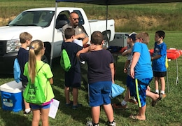 Ranger Jacob Henry hosted children who attended the festivities in an all-day JAKES Day event, Aug. 20.