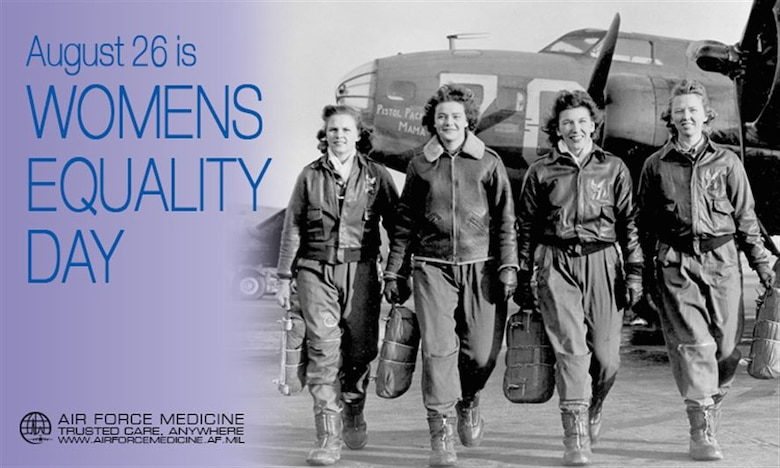 August 26 is Women's Equality Day, a day to commemorate and highlight women's rights in our society. (U.S. Air Force graphic/Steve Thompson)