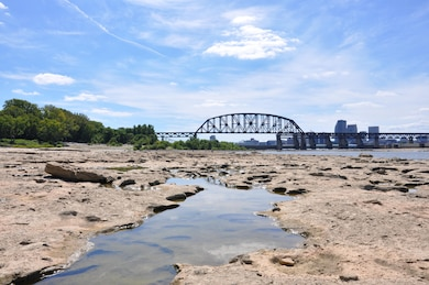 The McAlpine Dam on the Ohio River at Louisville, Ky., exposes fossil beds that date back to the Devonian period, some 390 million years ago.