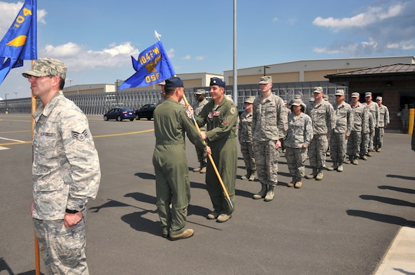 The 104th Fighter Wing holds awards ceremony and mother of all change of command ceremony, Barnes Air National Guard Base, Westfield, Massachusetts. During the Wing's ceremony four major awards were presented, and six changes of commands were performed. (U.S. Air National Guard photo by Tech Sgt. Melanie Casineau)